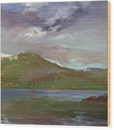 Chimney Rock  At Priest Lake  Plein Air Wood Print