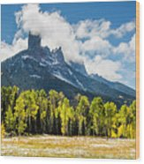 Chimney Rock Autumn Wood Print
