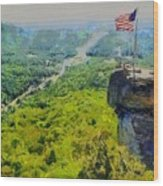 Chimney Rock Nc Wood Print