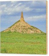 Chimney Rock North Platte River Valley Nebraska  - Chimrock168482 Wood Print