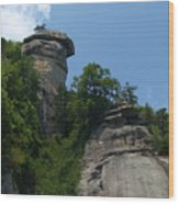 Chimney Rock State Park Nc Wood Print