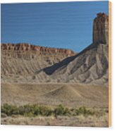 Chimney Rock Towaoc Colorado Wood Print