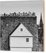 Chimneys In Edinburgh Wood Print
