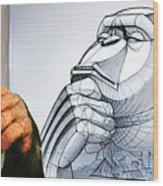 Chimps Don't Draw Wood Print