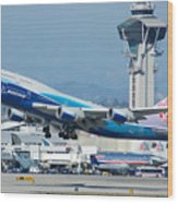 China Airlines Boeing 747 Dreamliner Lax Wood Print