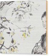 China Ancient Female Wood Print