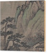 China Ancient Landscape Wood Print