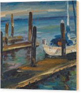 China Basin Docks Wood Print