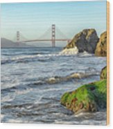 China Beach To The Golden Gate Wood Print