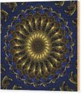 China Blue Wood Print