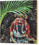 China Boat Gnome Wood Print