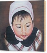 China Doll Wood Print