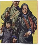 China - First To Fight - Ww2 Wood Print