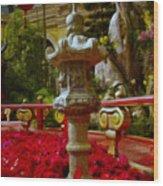 China Garden Wood Print