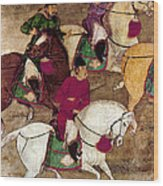 China: Horsemen Wood Print