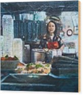 China Kitchen Wood Print