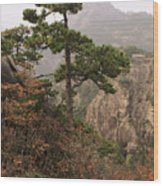 China, Mt. Huangshan Wood Print