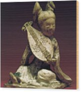 China: Musician Wood Print