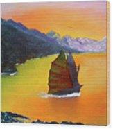 China Sea Wood Print
