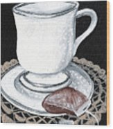 China Tea Cup Wood Print