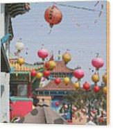 China Town  Wood Print