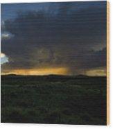 Chinati Storm Wood Print