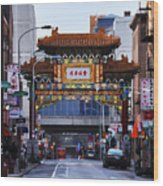 Chinatown - Philadelphia Wood Print by Bill Cannon