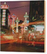 Chinatown In Bangkok Wood Print