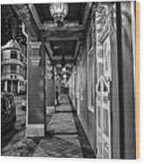 Chinatown In Singapore - Entry To The Saff Hotel Wood Print