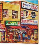 Chinatown Markets Wood Print