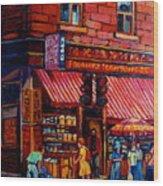 Chinatown Montreal Wood Print