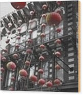 Chinatown San Francisco Wood Print