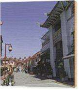 Chinatown Shops Wood Print