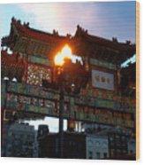 Chinatown Washington Dc Wood Print