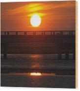 Chincoteague Island Bay Wood Print