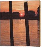 Chincoteague Sunset Wood Print