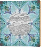 Chinease Ketubah- Reformed And Interfaithversion Wood Print
