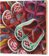 Chinese Baby Shoes Wood Print