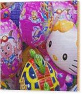 Chinese Balloons Wood Print