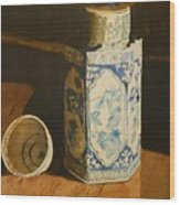 Chinese Bottle And Cup Wood Print