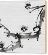 Chinese Brush ll Wood Print