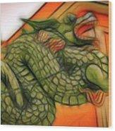 Chinese Dragon Art Wood Print