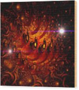 Chinese Dragon Galaxy Wood Print