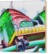 Chinese Dragon Ride 4 Wood Print