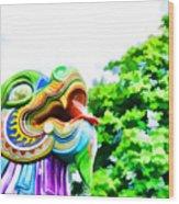 Chinese Dragon Ride Wood Print