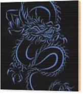 aee344da9 Chinese Dragon Tribal Blue Acrylic Print by Tina Barnash