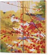 Chinese Garden Grace Wood Print