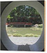 Chinese Garden View Wood Print