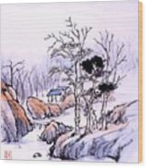 Chinese Landscape Wood Print