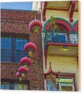 Chinese Lanterns Over Grant Street Wood Print